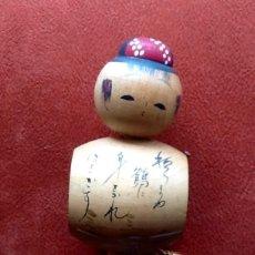 Antigüedades: MUÑECA TRADICIONAL JAPONESA. - KOKESHI - PINTADA Y FIRMADA... . ENVIO CERTIFICADO INCLUIDO.. Lote 159394578