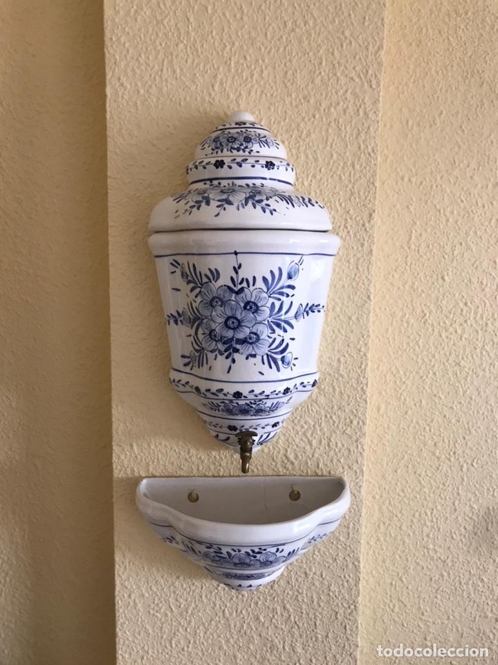 AGUAMANIL ANTIGUO SIGLO XIX (Antigüedades - Porcelanas y Cerámicas - Otras)