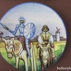 Antigüedades: PRECIOSO GRAN PLATO DE DON QUIJOTE DE LA MANCHA - 38 CM - EXCELENTE ESTADO.. Lote 159437718
