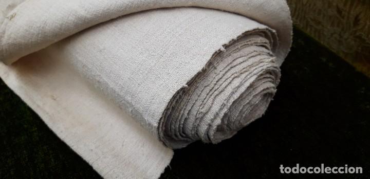 Antigüedades: Pieza de lino hecho en telar, finales del siglo xix, quizas de ajuar de novia. - Foto 3 - 159442706