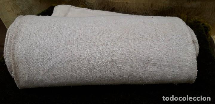 Antigüedades: Pieza de lino hecho en telar, finales del siglo xix, quizas de ajuar de novia. - Foto 4 - 159442706
