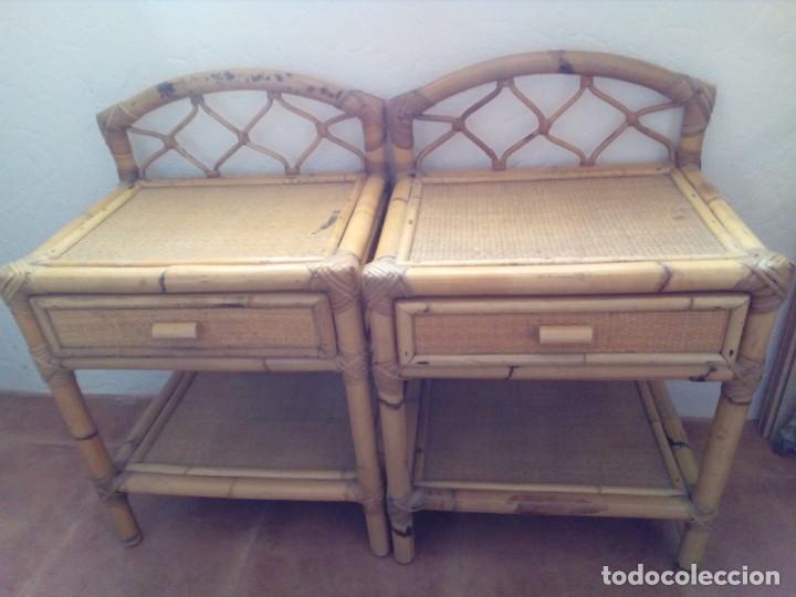 DOS MESITAS DE BAMBU (Antigüedades - Muebles Antiguos - Aparadores Antiguos)