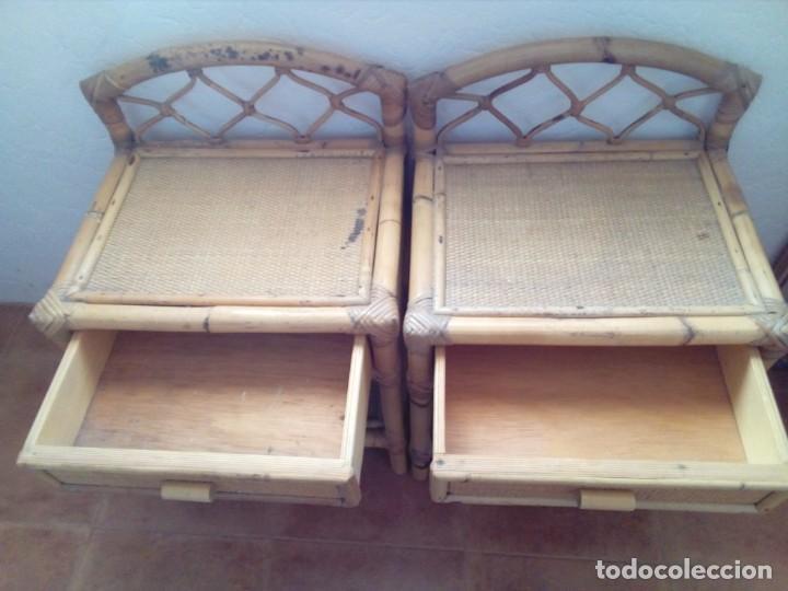 Antigüedades: DOS MESITAS DE BAMBU - Foto 2 - 159444806