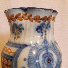 Antigüedades: JARRA CERAMICA TALAVERA VIRGEN DEL PRADO .S XIX. Lote 159460234
