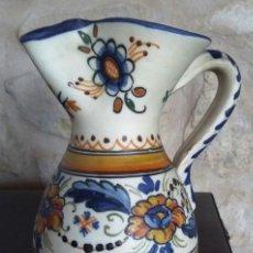Antigüedades: ANTIGUA JARRA DE CERÁMICA DE TALAVERA. FIRMADA EN LA BASE.. Lote 159502386