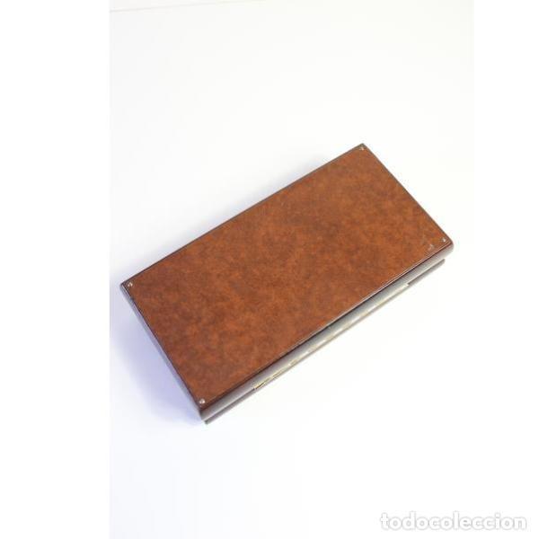 Antigüedades: Antigua purera, tabaquera de madera y cuero - Foto 5 - 159504338