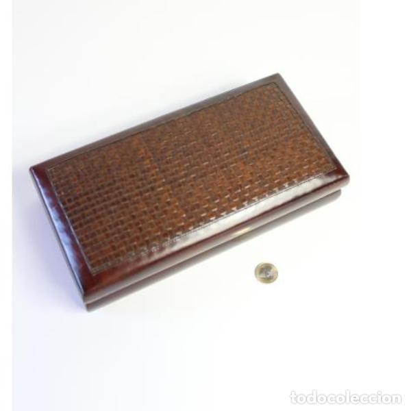 Antigüedades: Antigua purera, tabaquera de madera y cuero - Foto 6 - 159504338