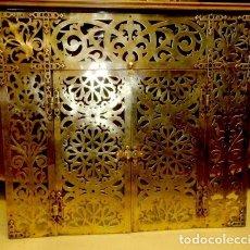 Antigüedades: PUERTAS DE BRONCE PARA CHIMENEA? , SXIX . Lote 159505798