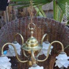 Antigüedades: LAMPARA ANTIGUA TIPO HOLANDESA CON TULIPAS FLOR DE PETALOS PRECIO FIJO. Lote 159505934