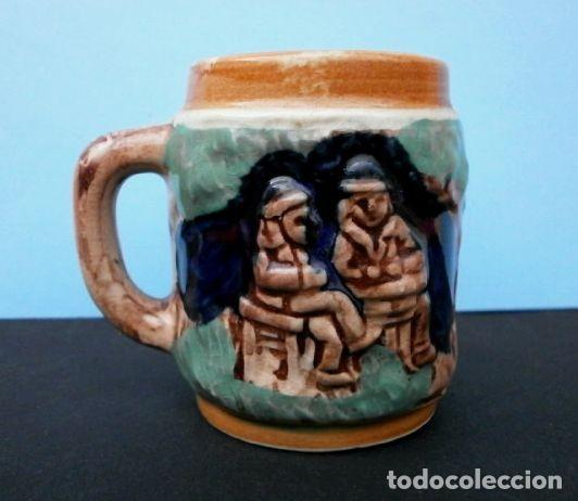 Antigüedades: MINI JARRA PORCELANA ALEMANA ESMALTADA (7 CM) BUNDESREPIBLIK DEUTSCHLAND - CERVEZA COLECCION - Foto 4 - 159556558