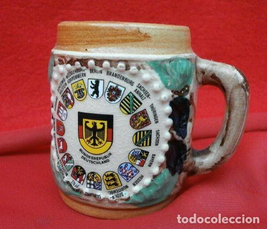 Antigüedades: MINI JARRA PORCELANA ALEMANA ESMALTADA (7 CM) BUNDESREPIBLIK DEUTSCHLAND - CERVEZA COLECCION - Foto 5 - 159556558