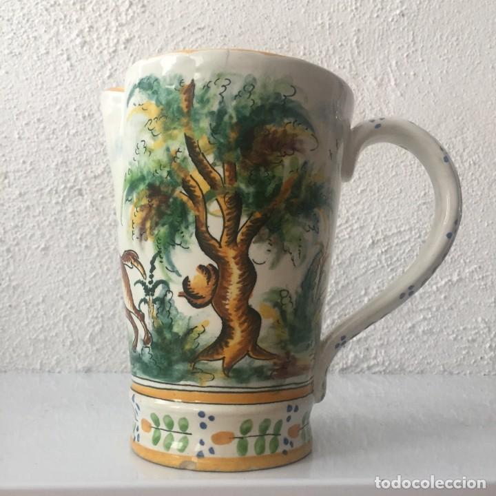Antigüedades: Jarra de cerámica Manises alfar Vicente Gimeno años 20 - Foto 2 - 159576366