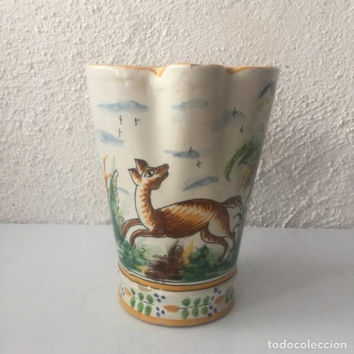 Antigüedades: Jarra de cerámica Manises alfar Vicente Gimeno años 20 - Foto 3 - 159576366