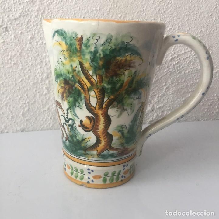 Antigüedades: Jarra de cerámica Manises alfar Vicente Gimeno años 20 - Foto 4 - 159576366