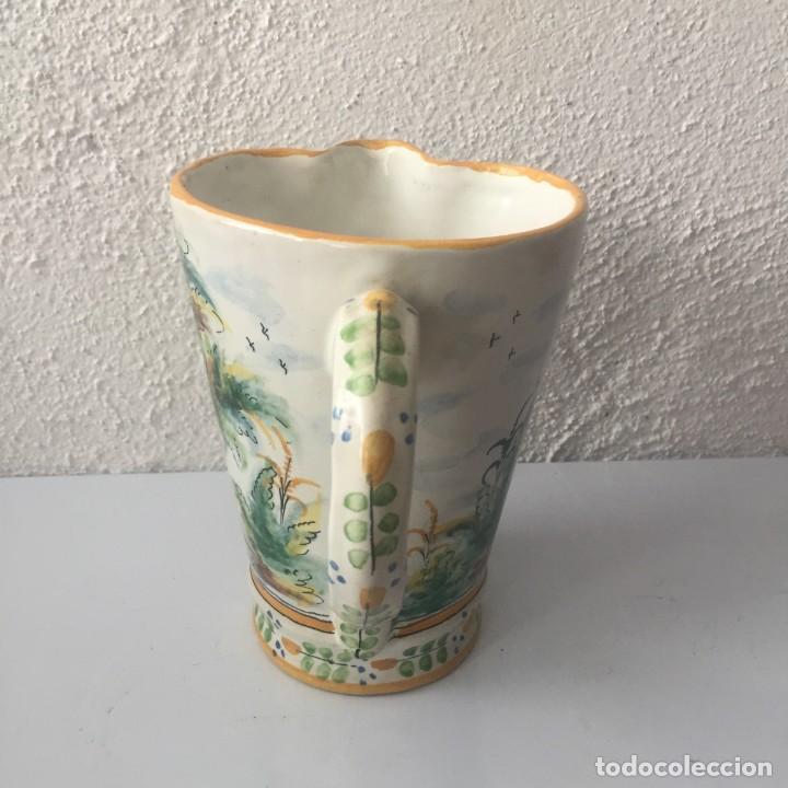 Antigüedades: Jarra de cerámica Manises alfar Vicente Gimeno años 20 - Foto 5 - 159576366