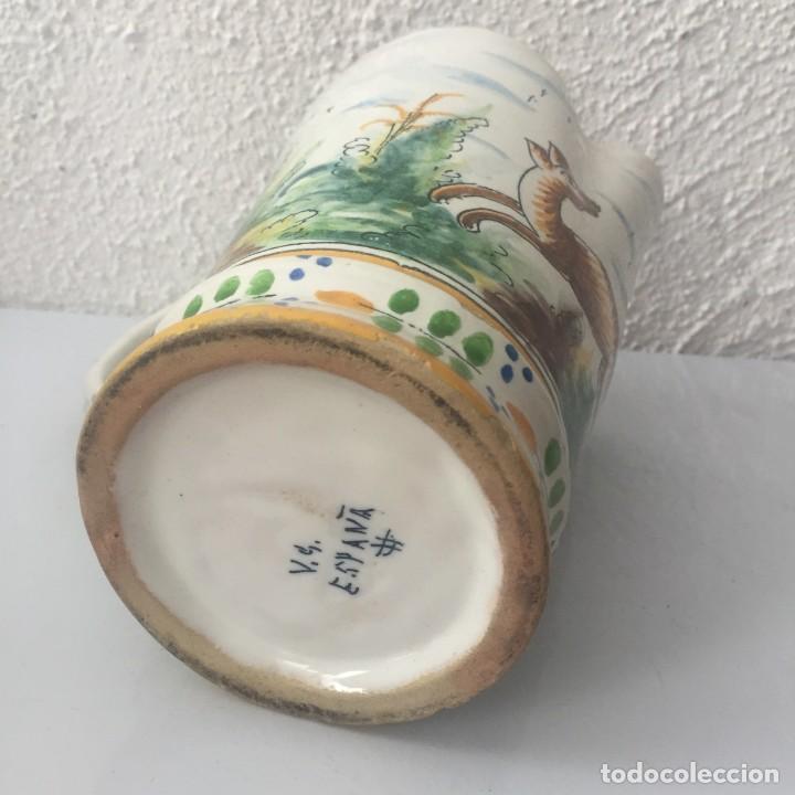 Antigüedades: Jarra de cerámica Manises alfar Vicente Gimeno años 20 - Foto 7 - 159576366