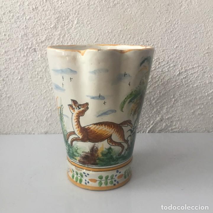 Antigüedades: Jarra de cerámica Manises alfar Vicente Gimeno años 20 - Foto 8 - 159576366
