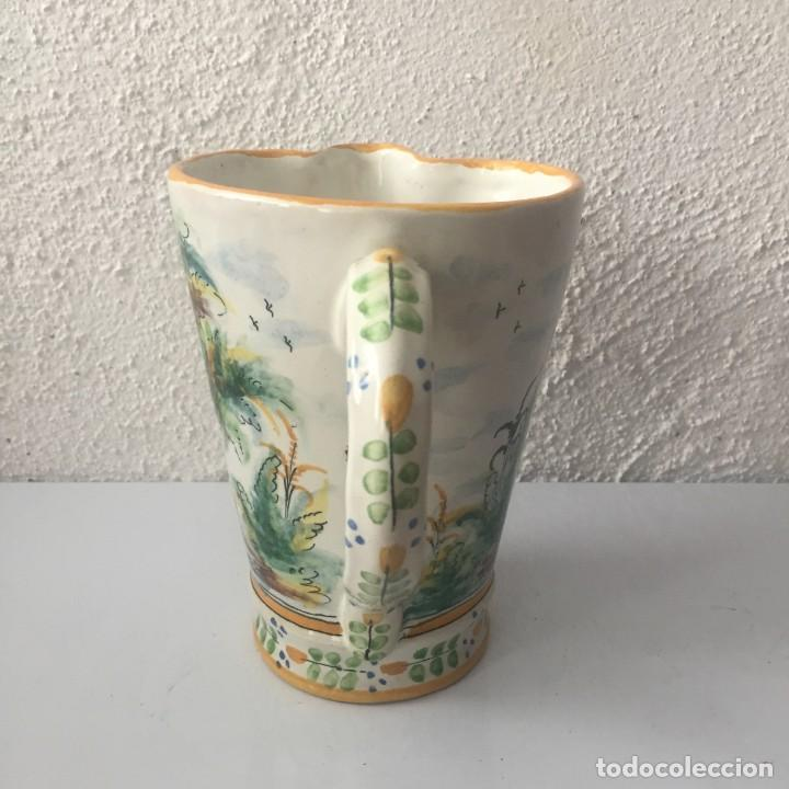 Antigüedades: Jarra de cerámica Manises alfar Vicente Gimeno años 20 - Foto 9 - 159576366