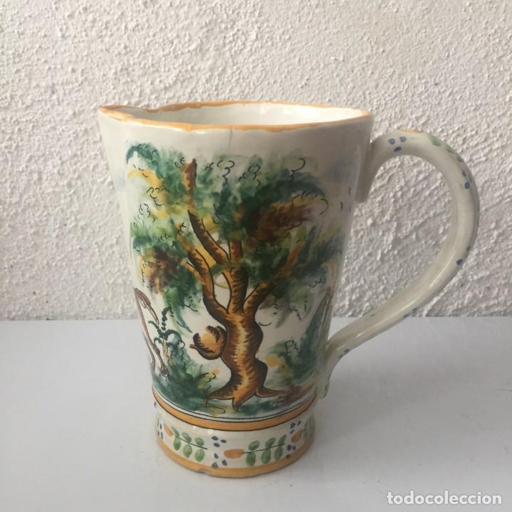 Antigüedades: Jarra de cerámica Manises alfar Vicente Gimeno años 20 - Foto 10 - 159576366
