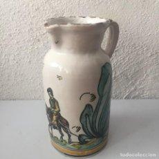Antigüedades: JARRA DE CERÁMICA PUENTE DEL ARZOBISPO FIRMADA SANGUINO TOLEDO. Lote 159577462