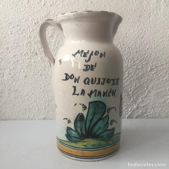 Antigüedades: Jarra de cerámica Puente del Arzobispo firmada Sanguino Toledo - Foto 4 - 159577462