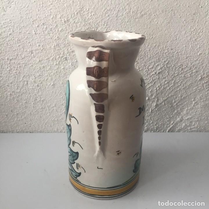 Antigüedades: Jarra de cerámica Puente del Arzobispo firmada Sanguino Toledo - Foto 5 - 159577462