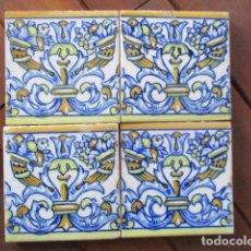 Antigüedades: AZULEJOS PINTADOS TRIANA SIGLO XIX. Lote 159592726