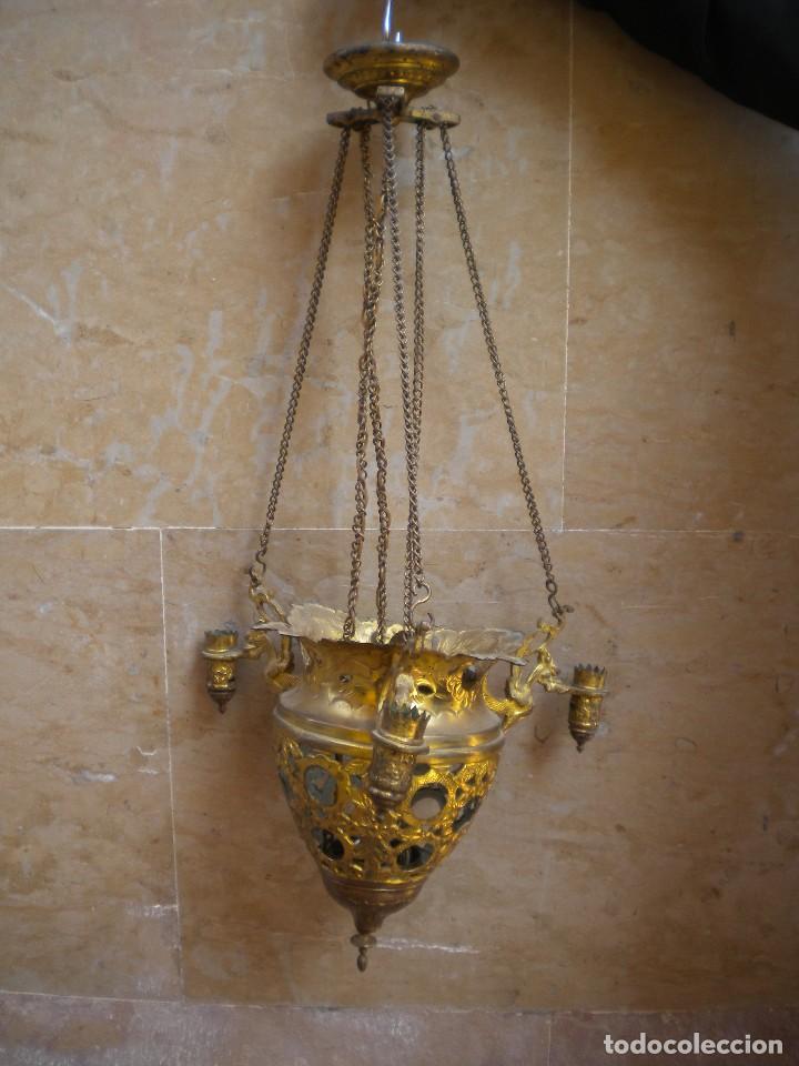 LAMPARA VOTIVA (Antigüedades - Religiosas - Varios)