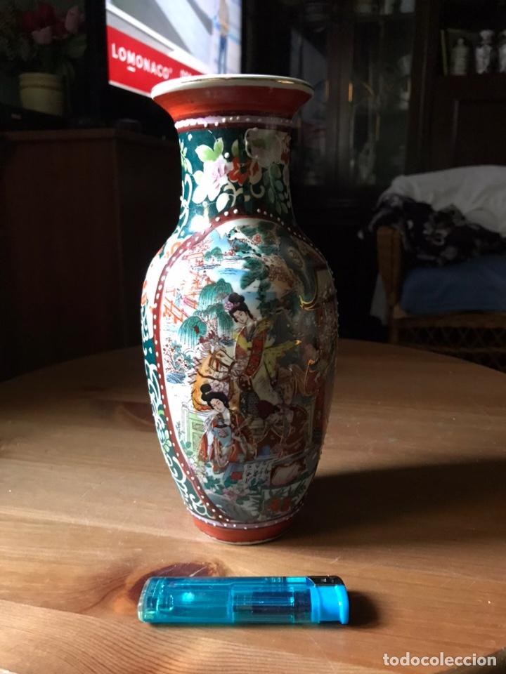 JARRÓN DE PORCELANA JAPONESA, SATSUMA. (Antigüedades - Porcelanas y Cerámicas - China)