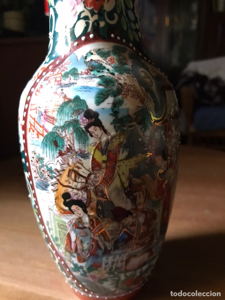Antigüedades: Jarrón de porcelana Japonesa, satsuma. - Foto 2 - 159632018