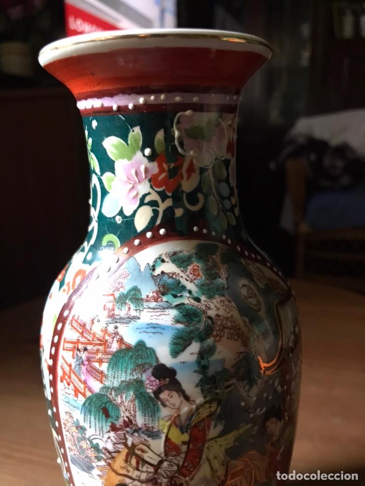 Antigüedades: Jarrón de porcelana Japonesa, satsuma. - Foto 3 - 159632018