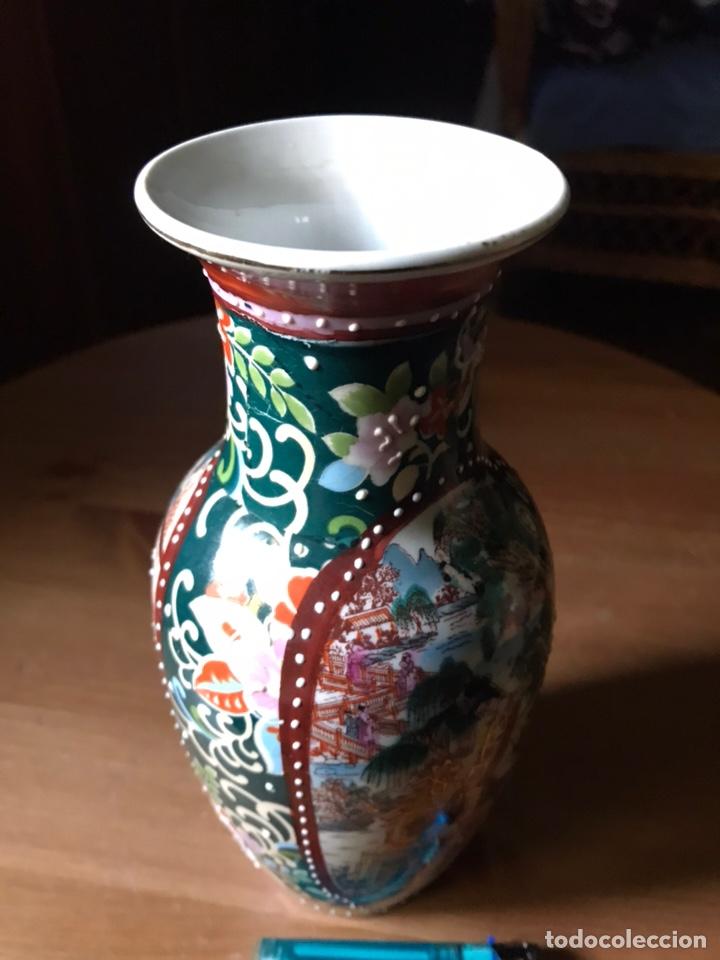 Antigüedades: Jarrón de porcelana Japonesa, satsuma. - Foto 5 - 159632018