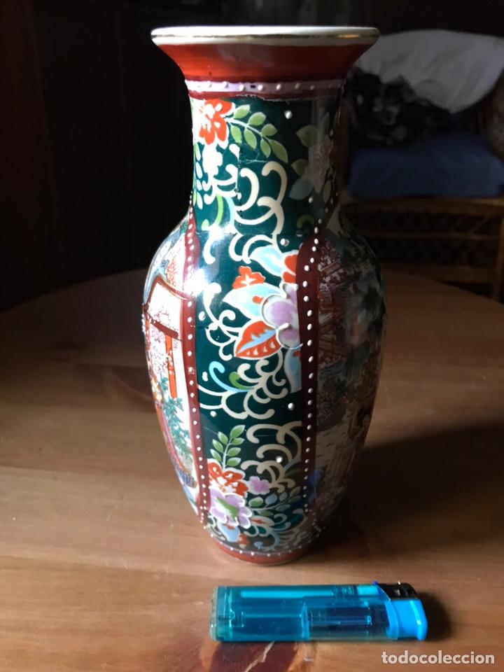 Antigüedades: Jarrón de porcelana Japonesa, satsuma. - Foto 7 - 159632018