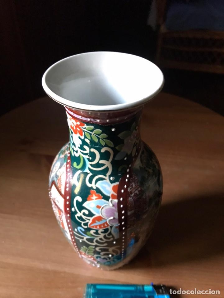 Antigüedades: Jarrón de porcelana Japonesa, satsuma. - Foto 8 - 159632018