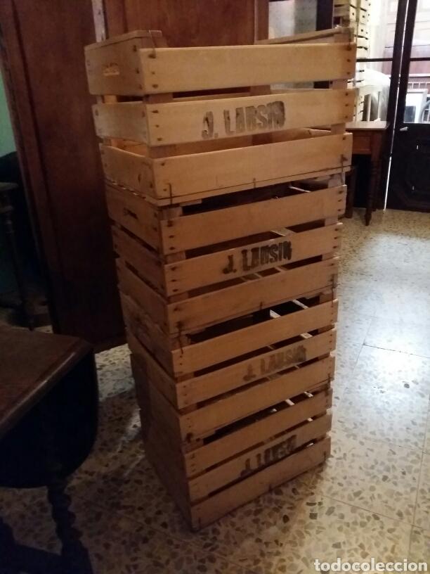 Antigüedades: Cajas de fruta madera - Foto 2 - 159634964