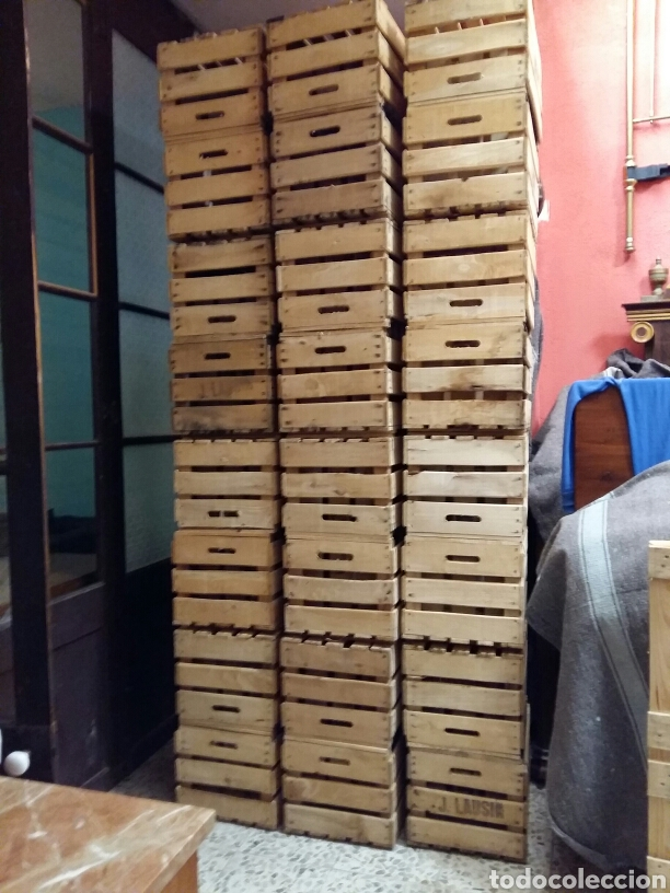 Antigüedades: Cajas de fruta madera - Foto 3 - 159634964