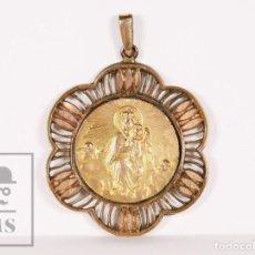Antigüedades: ANTIGUA MEDALLA RELIGIOSA DORADA - NUESTRA SEÑORA DE LA MERCÉ / VIRGEN DE LAS MERCEDES. Lote 159641870