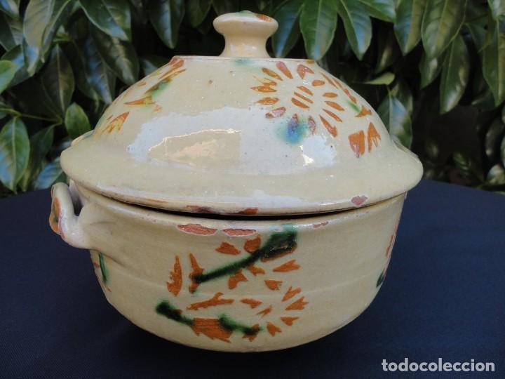 Antigüedades: Alfarería catalana: Sopera de La Bisbal - Foto 2 - 159647530