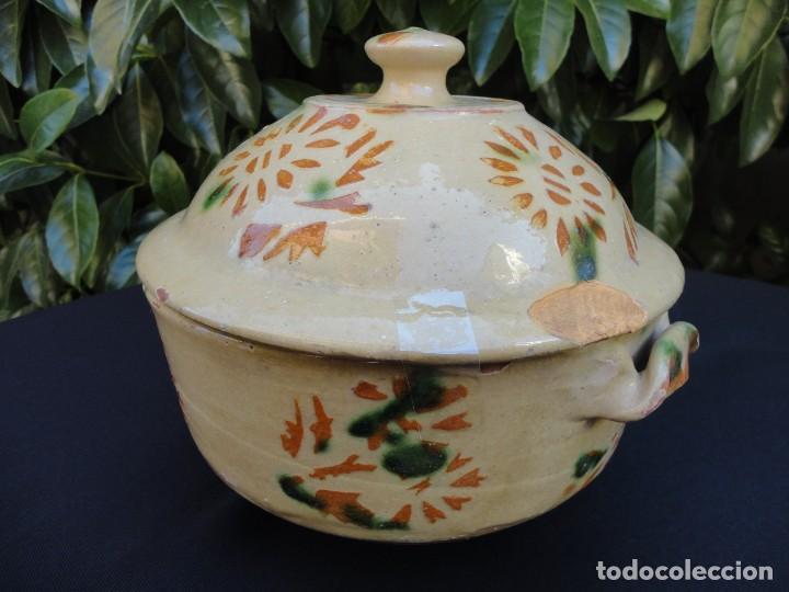 Antigüedades: Alfarería catalana: Sopera de La Bisbal - Foto 3 - 159647530