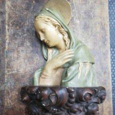 Antigüedades: TALLA VIRGEN ESCAYOLA, DESCONOZCO FECHA. VER FOTOS.. Lote 159663870