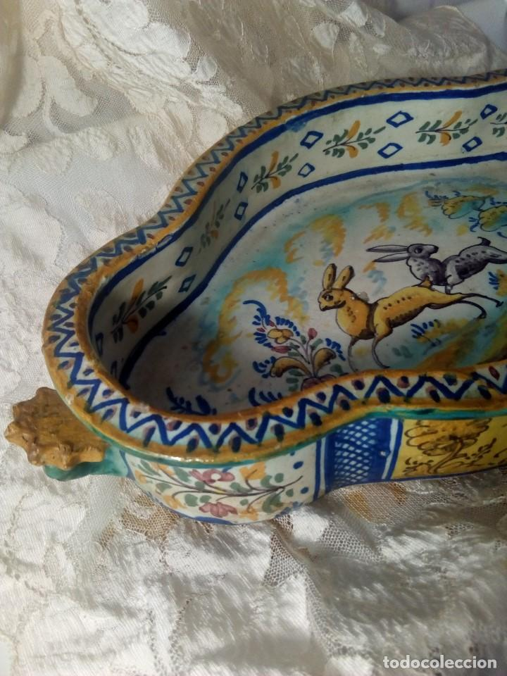 SIGLO XVIII RARA Y ÚNICA FUENTE DE TRIANA, PERFECTO ESTADO, GRAN TAMAÑO (Antigüedades - Porcelanas y Cerámicas - Triana)