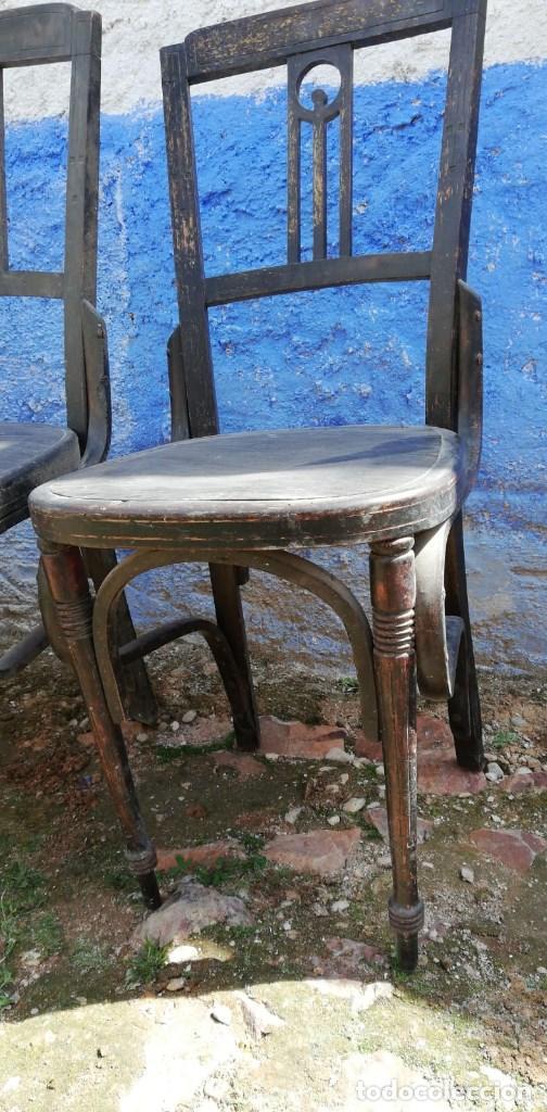 Antigüedades: SILLAS ANTIGUAS CONJUNTO DE 4 UDS. - Foto 2 - 159673274