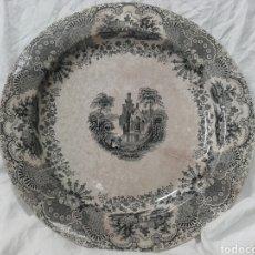 Antigüedades: RARO GRAN PLATO DE PICKMAN Y CIA, SEMI-CHINA. MIDE 35 CM.. Lote 159675226