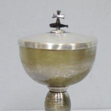 Antigüedades: PRECIOSO COPON CON CRISMON ESMALTADO. AÑOS 50-60. Lote 159677618