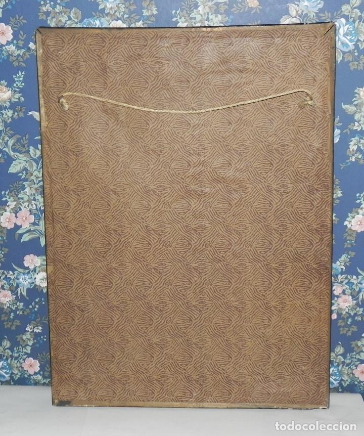 Antigüedades: ** PRECIOSO CUADRO VIRGEN DEL CAMINO EN COBRE REPUJADO BAÑADO EN PLATA - FIRMADO MORERA ** - Foto 12 - 159691130