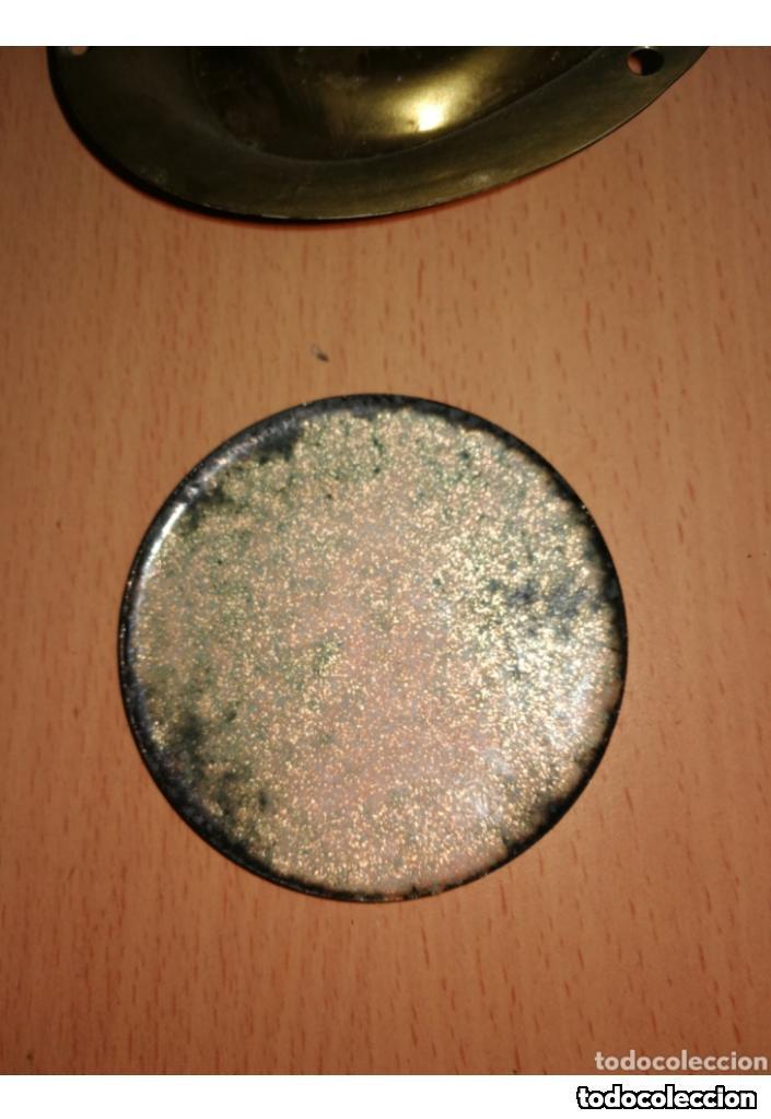 Antigüedades: CORNUCOPIAS DE BRONCE CON ESMALTE A FUEGO - Foto 4 - 159723162