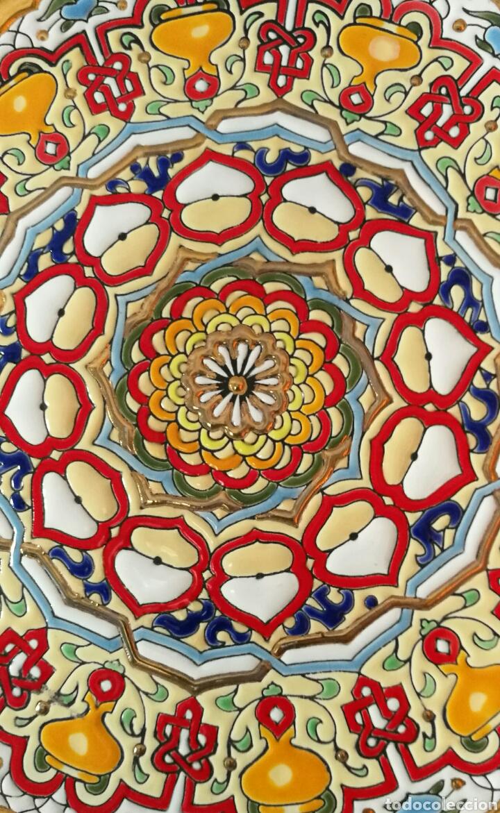 Antigüedades: Plato de ceramica de Triana - Foto 2 - 159732917