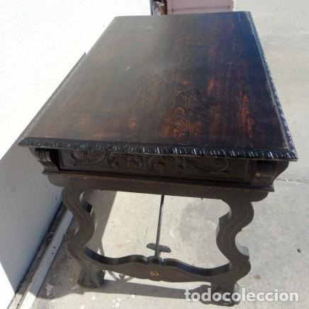Antigüedades: Mesa de despacho estilo renacimiento en madera tallada - Foto 7 - 159740278