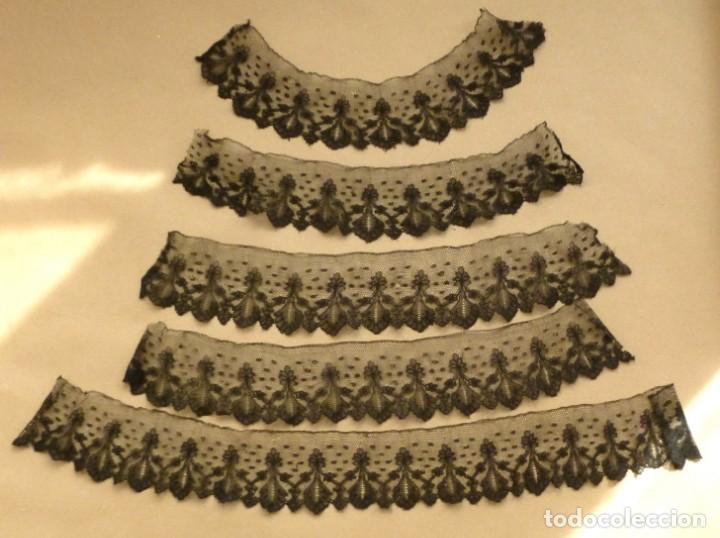 Antigüedades: ANTIGUO ENCAJE CHANTILLY S.XIX - Foto 2 - 159742646