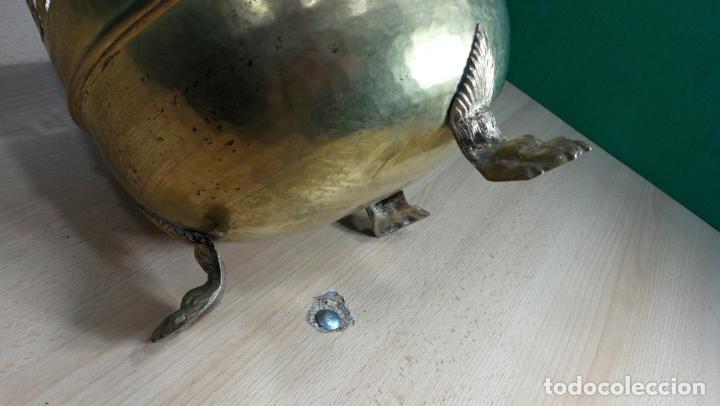 Antigüedades: BOTITO MACETERO GRANDE ANTIGUO DE METAL BRONCEADO - Foto 16 - 159768254
